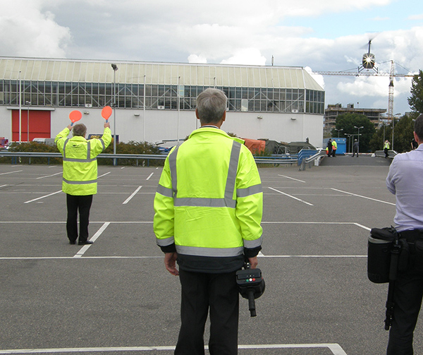 Signal Light Gun being used at temporary helipad at Helitech